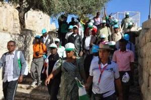 2013 Christian Pilgrims: Nigerian Christian Pilgrims walking through Old City of Jerusalem , Israel yesterday. Photo by Gbemiga Olamikan.