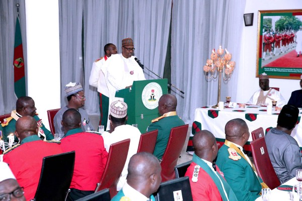 PRESIDENT BUHARI ATTENDS ARMY REGIMENTAL DINNER NIGHT