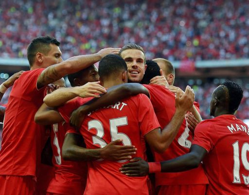 Liverpool Celebrate their victory. Photo credit | Daily Express