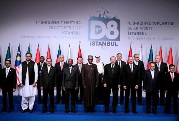 President Muhammadu Buhari and D8 Memebrs at Istanbul, Turkey