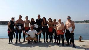 Foto di gruppo alla fine di una delle immersioni