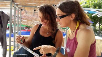 Scenarios with Reef Check Italia onlus slates and programmes