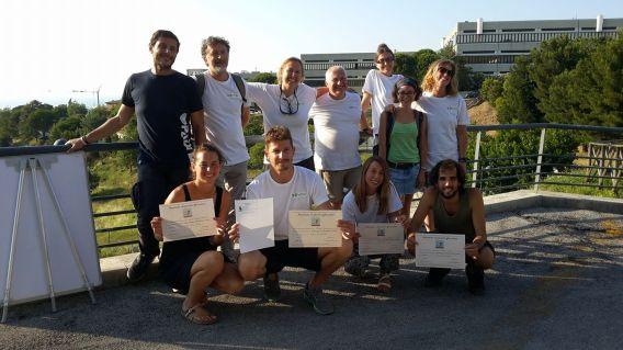 Foto di gruppo alla fine del corso
