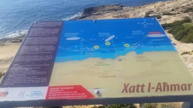 Explanatory panel diving Gozo