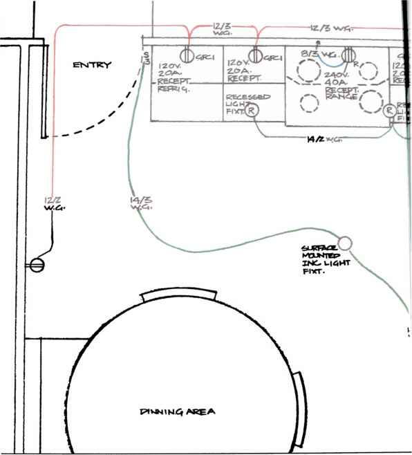 Remodeled Kitchen Home Wiring