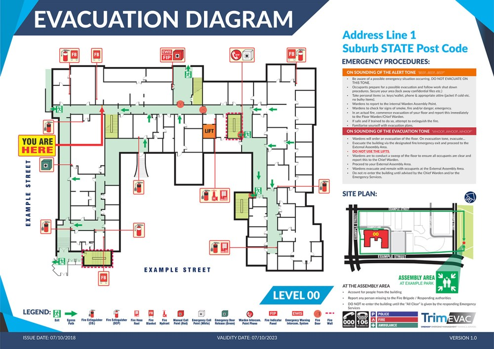 medium resolution of example evacuation diagram from trimevac
