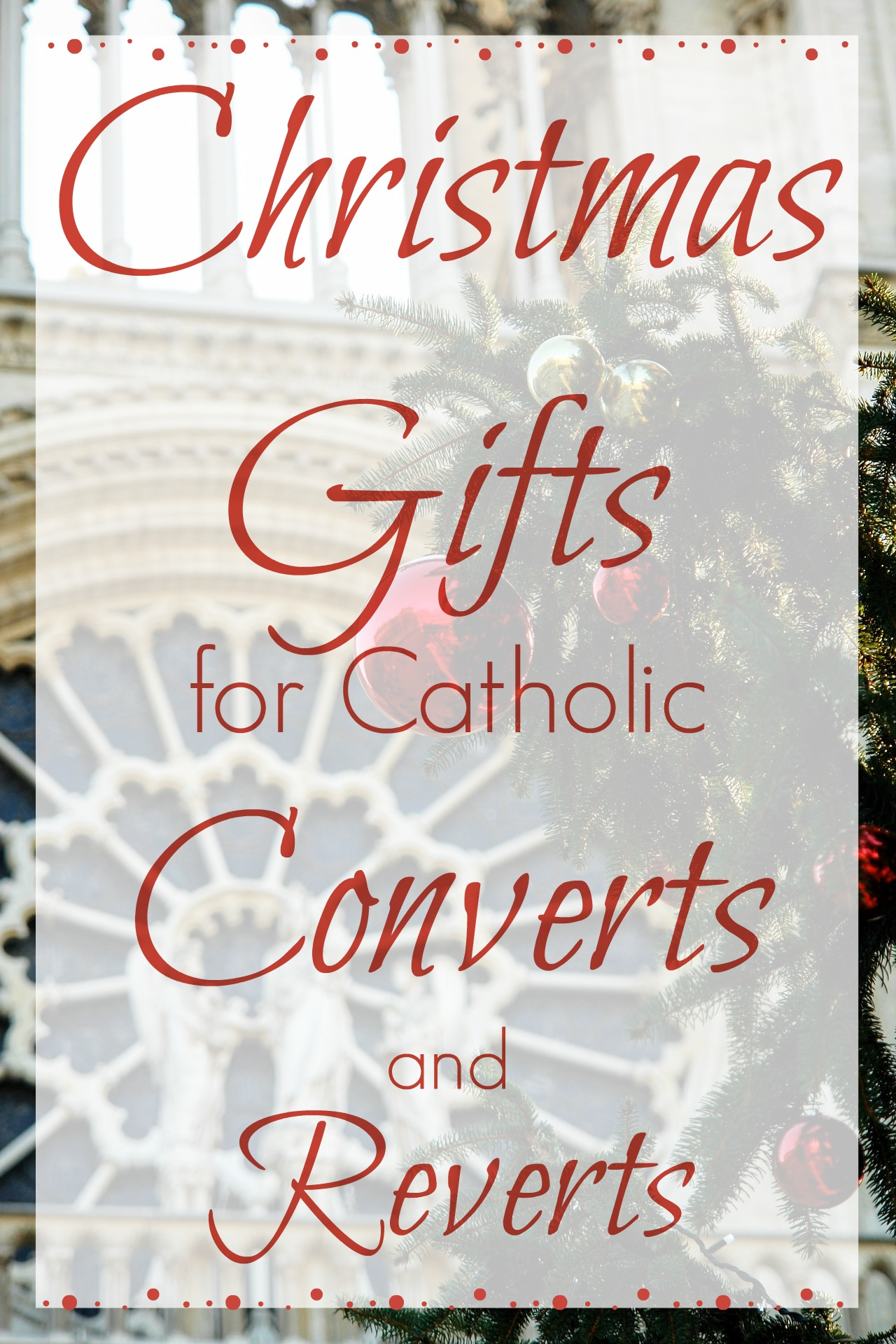 There seems to be an endless stream of occasions to shop for Catholic gifts. Baptisms, Confirmation, First Communion, RCIA teachers and sponsors, ...