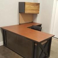 L Shaped Industrial Office Desk Green Clean Designs ...