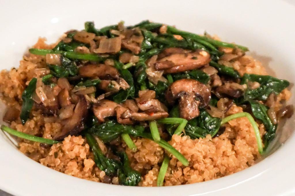 Garlic Mushrooms and Quinoa