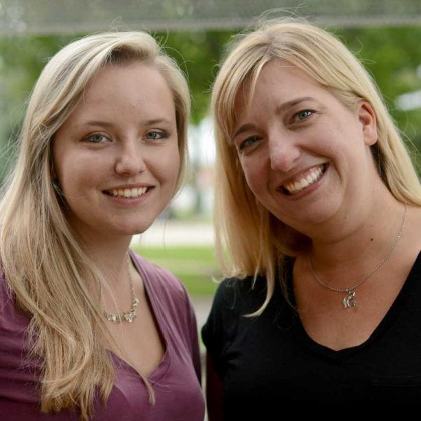 Joanna Corrigan and Kendra Higgins