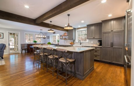 Remodeled kitchen cabinets and counters