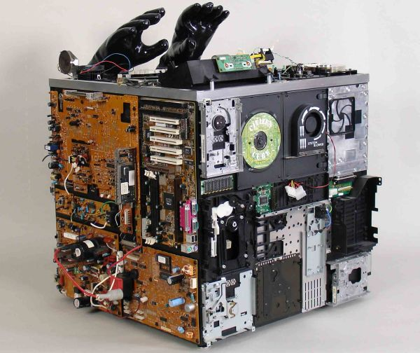 Citizen Cube made from e-waste