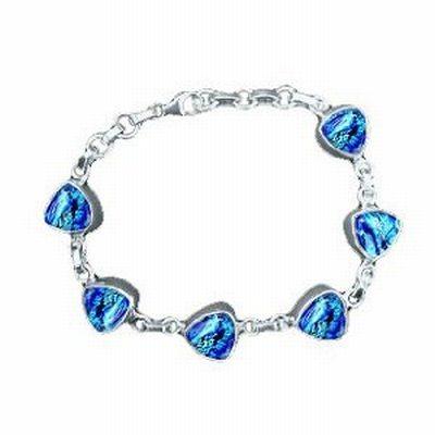 Dichroic glass bracelet: