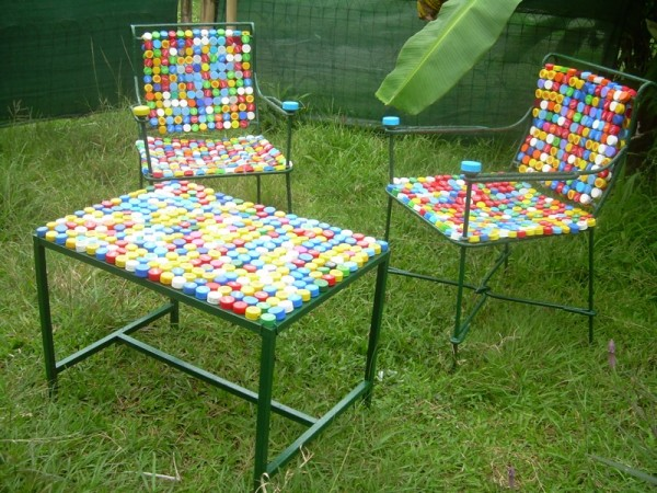 Furniture from bottle cap