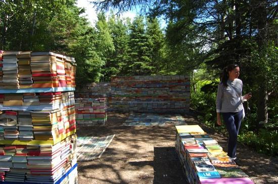 jardin de la connaissance book installation