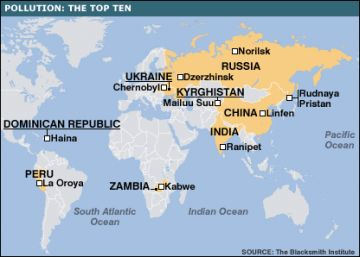 map of worlds pollution hotspots 9