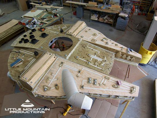 millennium falcon play fort for make a wish founda