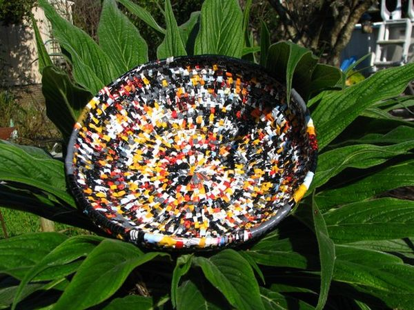 recycled plastic bag basket 2