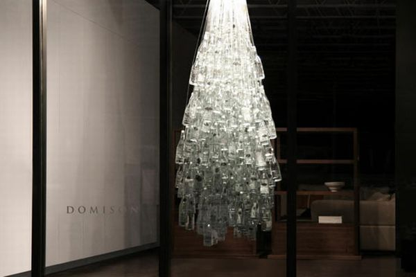 Recycled Glass Water Bottles Christmas Tree