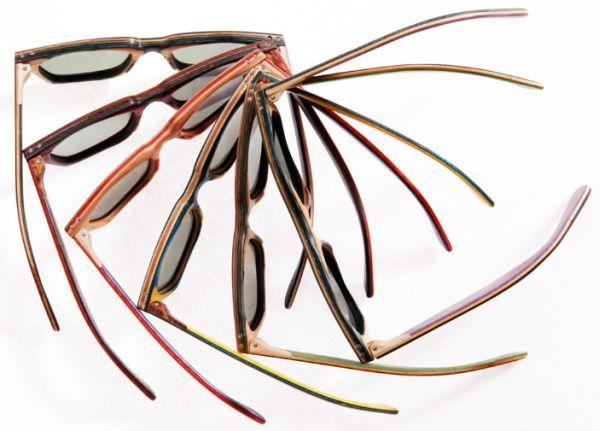 Recycled skateboard eyewear