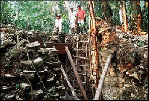 ruins of maya royalty
