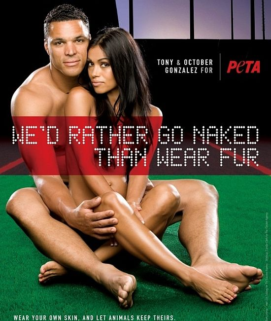 tony october gonzalez for peta