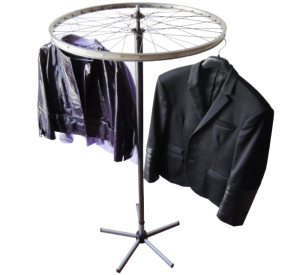 wheely recycled cloth stand 1