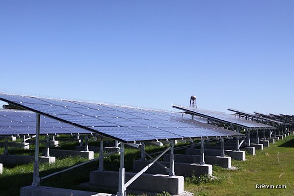 A photovoltaic system of solar cells.