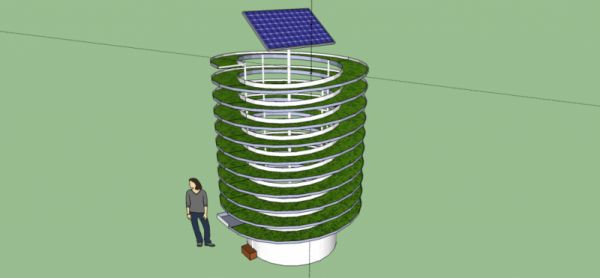 Solar Spiral Water Pump
