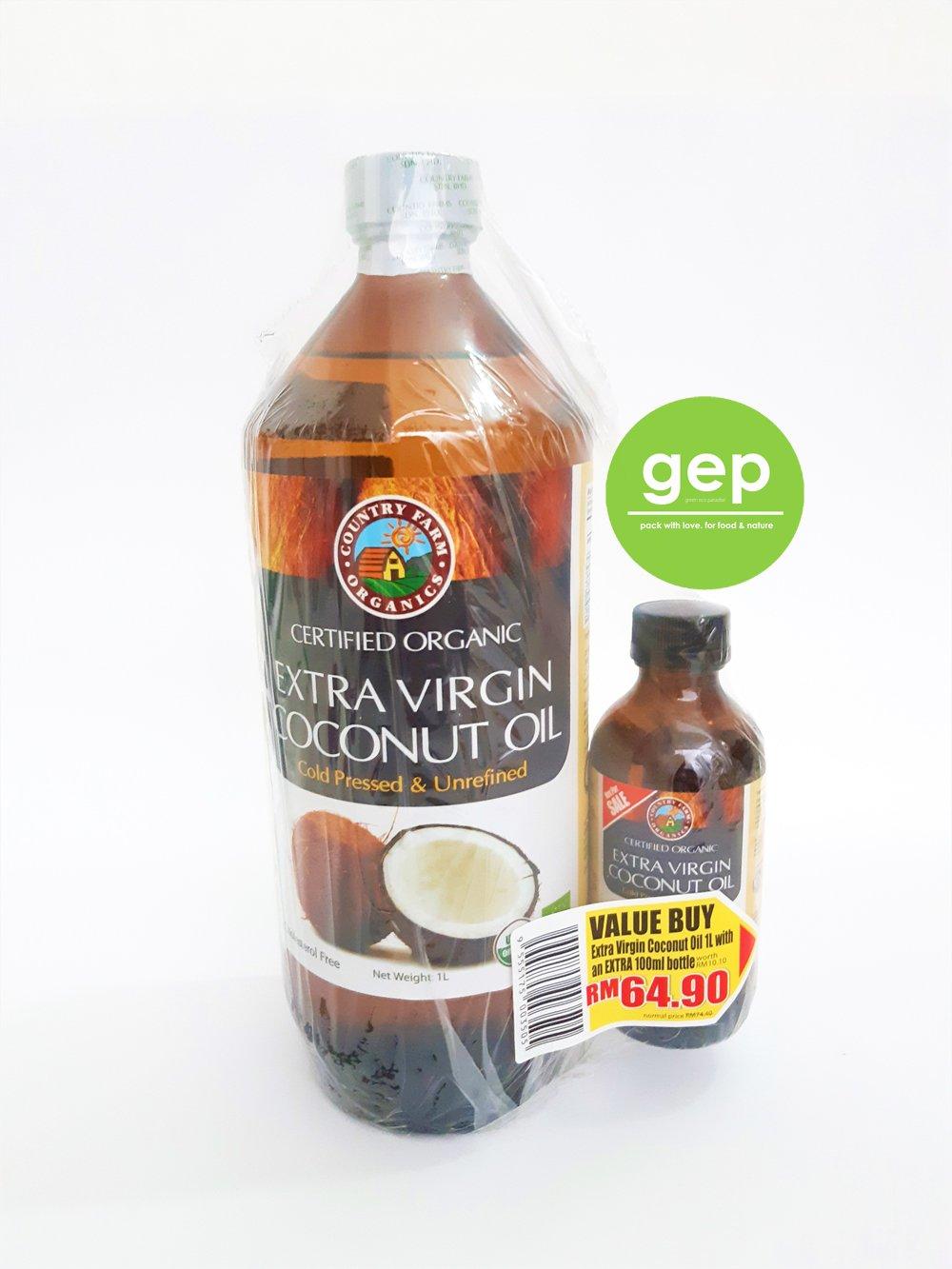 Extra Virgin Coconut Oil 1 Litre Green Eco Paradise Penang Malaysia