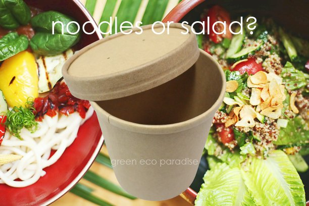 Paper bowl suitable for various dishes