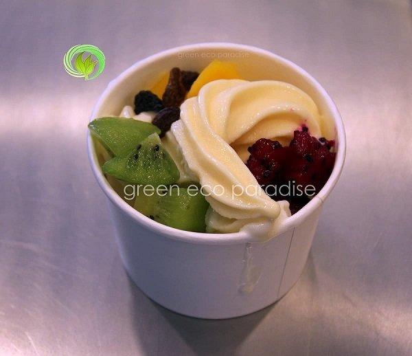Yogurt cup with fruits