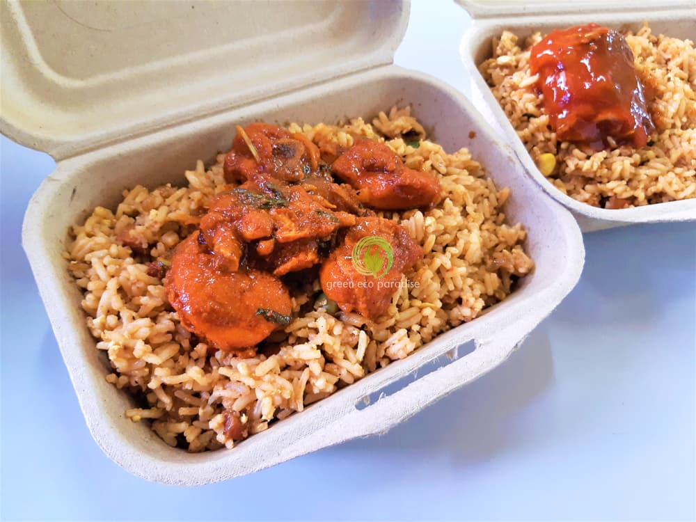 Lunch box packaging for fried rice