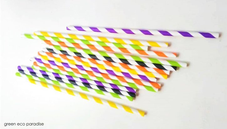 Eye-catching paper straws.