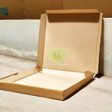Disposable food box with hard surface.