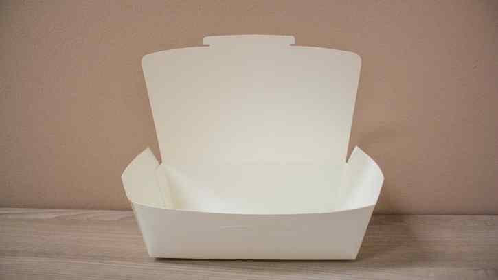 White Paper Lunch Box