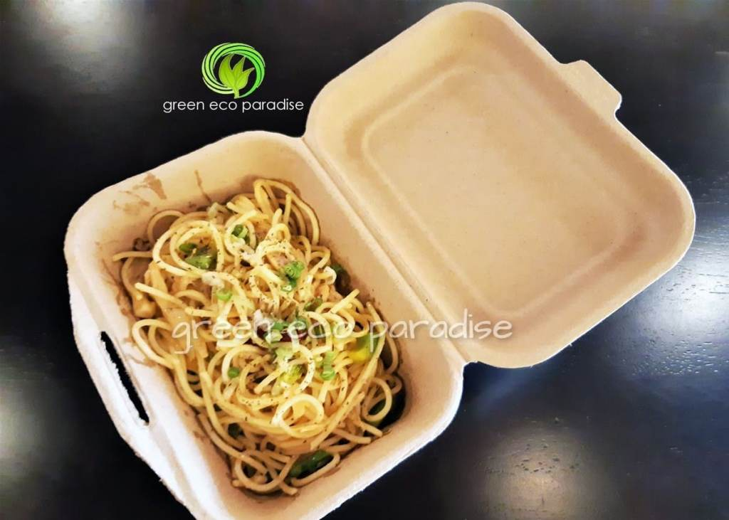 Biodegradable takeaway containers for pasta