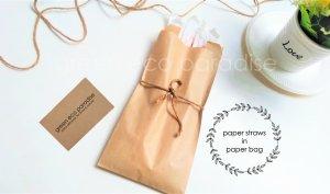 Paper straws set