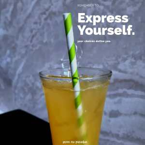 Reduce plastic with paper straws