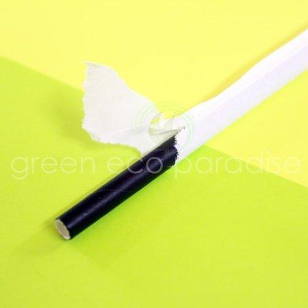 Black paper straw
