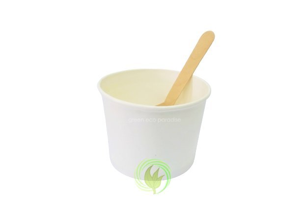 Pair the spoon with ice cream cup
