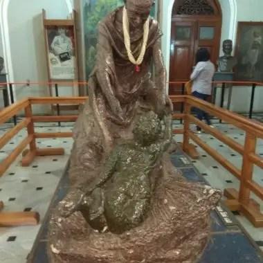 Mahatma Gandhi's statue at second room