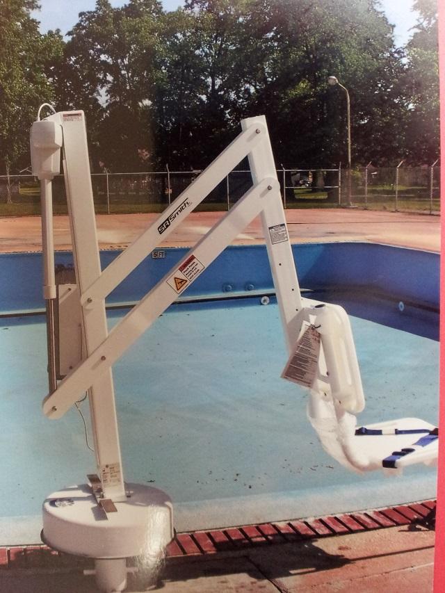 Linton pool is handicap accessible