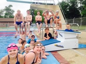 Foundation Grant helps purchase new Swim Blocks
