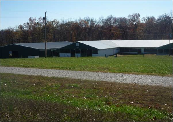 New buildings at fairgrounds, a result of Foundation grant