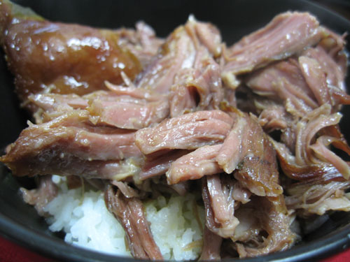 Kalua Pulled Pork over rice