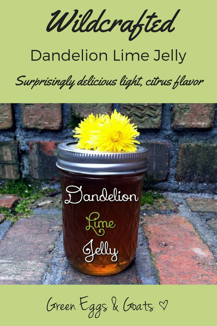Dandelion Jelly with a hint of lime