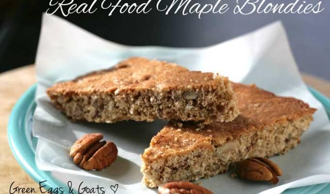 Real Food Maple Blondies