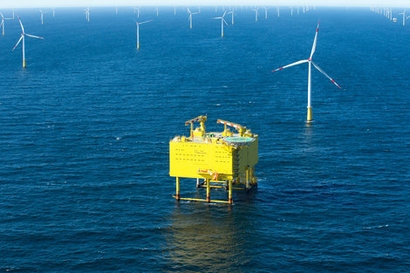 Siemens hands over the world's largest offshore grid connection to TenneT