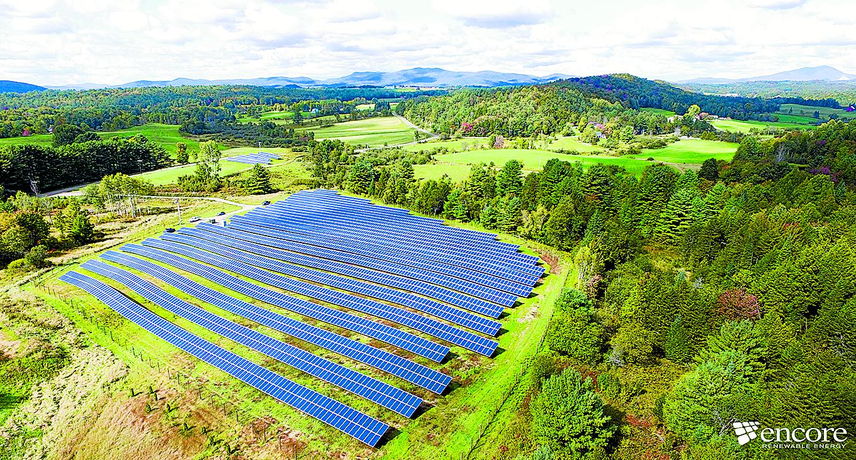 Hyde Park solar array, developed by Encore Renewables, based in Burlington, Vermont. Photos courtesy of Encore Renewables.